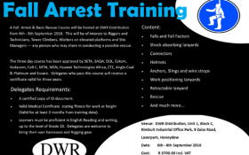 DWR to host Fall Arrest and Basic Rescue course