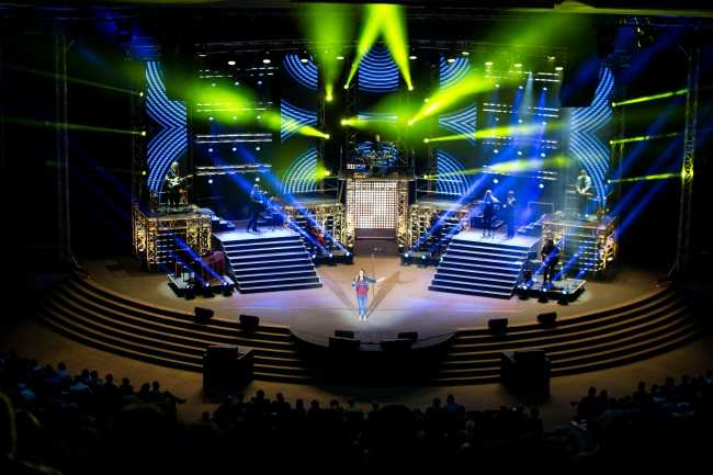 Lighting with passion at Gospel Skouspel 2016
